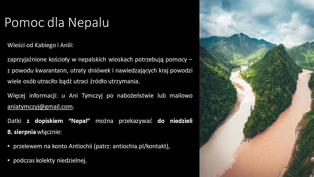 Pomoc dla Nepalu
